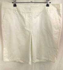 QUEENSPARK White Stretch Cotton Knee Length Shorts Pants Size 20 BNWT  # J69