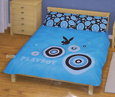 Playboy Bunny Blue King Bed Quilt Doona Cover Set New