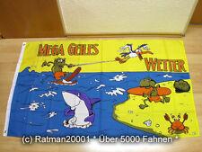 Fahnen Flagge Mega Geiles Wetter Hai - 90 x 150 cm