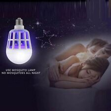 Fad 15W LED Anti Mosquito Light Bulb Lamp Flying Insects Moths Killer Attractive