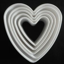 Set of 5 Heart Shape Cookie Cutters