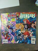 The Avengers 2 Book lot #388,389 VF-NM (1995) Marvel Comics ~