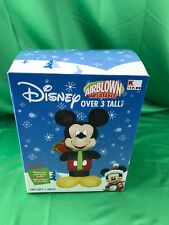 Disney Santa MICKEY MOUSE 3 Tall Airblown Inflatable