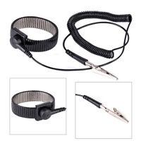 Anti-static ESD Adjustable Strap Antistatic Grounding Bracelet Black Wrist Band