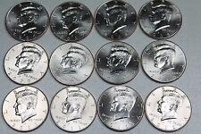 2007 2008 2009 2010 2011 2012 P D Kennedy Half Dollar Mint Roll Set