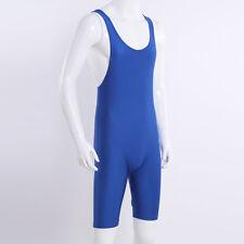 Einteiler Ärmellos Unterhemd Ringen Bodysuit Herren Body Unterwäsche Blau XL
