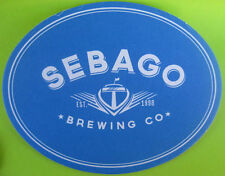 SEBAGO BREWING CO, BREWED ...THESE Beer COASTER, Mat, South Portland, MAINE 2014