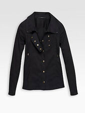 100% AUTHENTIC Gucci Gold-Snap Poplin Top NWT
