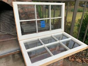 2 - 32 x 19-1/4 Vintage Window sash old 6 pane From 1968