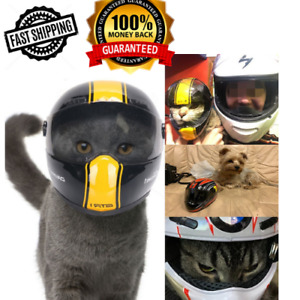 Motorcycle Safety Small Helmet Little Dog Cat Pet Puppy Cool Fashion Biker Gift