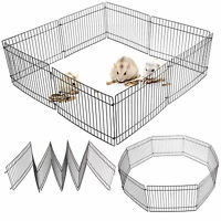 Folding Puppy Pet Guinea Pig/Rabbit Hamster Garden Play Pen Metal Fence 35X23CM