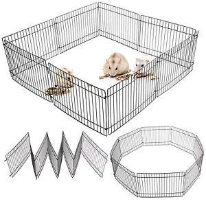 Folding Puppy Pet Guinea Pig/Rabbit Hamster Garden Play Pen Metal Fence 35X23CM