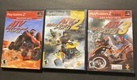 3 Game Lot ATV Offroad Fury 1, 2,3  Bundle PlayStation 2 PS2