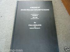 Record of Grand Prix voiturette Racing Volume 6 1954 1959 Paul Sheldon Pau