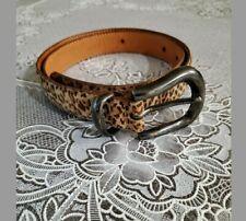 Y2K animal print belt Metal Buckle Size Small suede-like