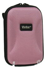 Vivitar Universal Hardshell Digital Case Camera MP3 MP4 Pink w Neck Strap