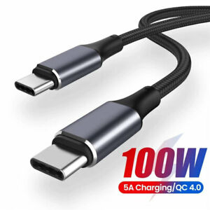 5A 100W PD USB C to Type-C for Huawei Mate P30 Pro Fast Charge Data Cable 0.5-2M