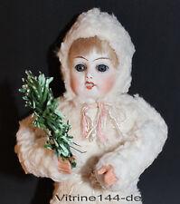 Neve Bambino Invernali Bambino-BAMBOLA Snow doll porcellana testa glasaugen 19 cm
