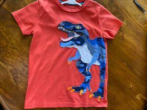 Mini Boden boys Red dinosaur T-Shirt 6-7