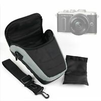Portable Black & Silver Carry Case w/ Shoulder Strap for Olympus E-PL8 Camera