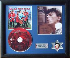 Gene Vincent Lonely Street Genuine CD, Autograph & Plectrum Presentation