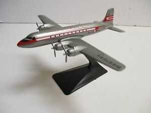 Small Western Airlines DC-4 Desk Model, Plastic @1950s
