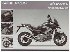 Owner's Manuelle en Anglaise Honda NC700X NC700XA NC700XD
