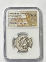 """Alexander the Great 336-323 BC Silver Tetradrachm NGC CHXF """"Lifetime Issue"""""""