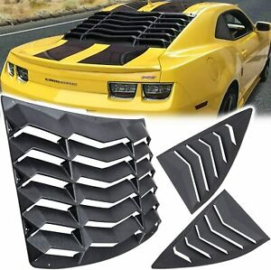 Rear Window Louver and Side Quarter Window Scoop Louvers for Chevy Camaro 10-15