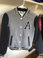Abercrombie & Fitch Girls Varsity Jacket Size 13/14