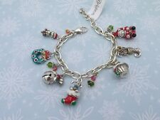 Brighton HOLLY CHRISTMAS Bracelet Cat/Dog/Teddy Bear/Wreath/Jingle Bell NEW