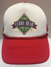The Cubby Bear Bar Chicago Cubs Wrigleyville Trucker Snap Back Hat Cap Rare