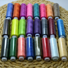 24X Mixed Colors Polyester Spool Sewing Thread For Machine High Quality Set Shop