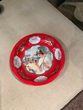 Coca-Cola Drink of All the Year Tin Bowl 1993 Round Collectible Lady on Beach