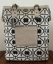 Petunia Pickle Bottom Handbag Fresco Troubadour Tote Beige Purse Velvet Leather