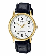 Casio MTP-V002GL-7B2 Men's Standard Analog Leather Band Gold Tone Date Watch