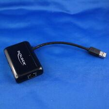 Delock HUB USB 3.0 3x Port extern + 1x Gigabit Ethernet Lan Port Plug & Play