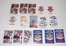 16x // LOT of VINTAGE old NHL POCKET SCHEDULE FLORIDA PANTHERS 1993-2000 HOCKEY