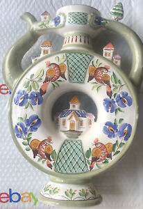 Hand Made Osaka Japan Ornamental Teapot With Japanese Pattern Designs Castle Top