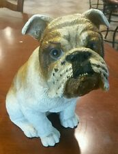 Vintage 1984 Universal Statuary Sitting Bulldog Figurine Dog Sculpture #289