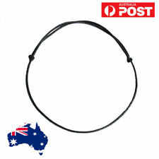 1.5mm Vegan Adjustable Choker Necklace Black Wax FAUX Leather Knot Sliding Cord