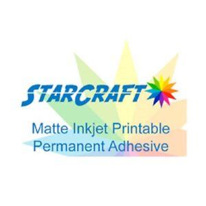 StarCraft Inkjet Printable Self Adhesive Sticker Vinyl and UV Laminate Sheets