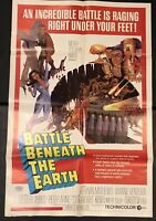 "BATTLE BENEATH THE EARTH Original 27"" X 41"" SS/Folded Movie Poster - 1968"