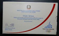 REPUBBLICA ITALIANA dittico 5 e 10 euro PROOF 2005 OLIMPIADI TORINO 2006 I Serie