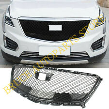 Front Bumper Grille Honeycomb Grill Refit ABS Black For Cadillac XT5 2016-2018
