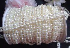 Pearl Beads String Beads Ivory Crystal Chain selling by the yard