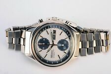 Rare Vintage Seiko Panda 6138-8020 Day Date Chronograph Steel Automatic Watch