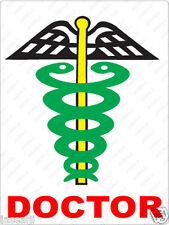 Reflective MULTI COLOR Doctor Decal / Sticker for any Car