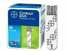2 Boxes Bayer Contour Plus Diabetic Blood Glucose Test Strips Code Free 100 Pcs#