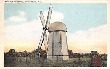 1920's Old Windmill Jamestown RI post card